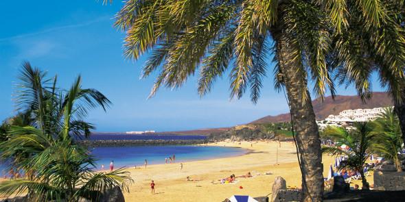 The beach at Playa Blanca, Lanzarote, Canary Islands, Atlantic,